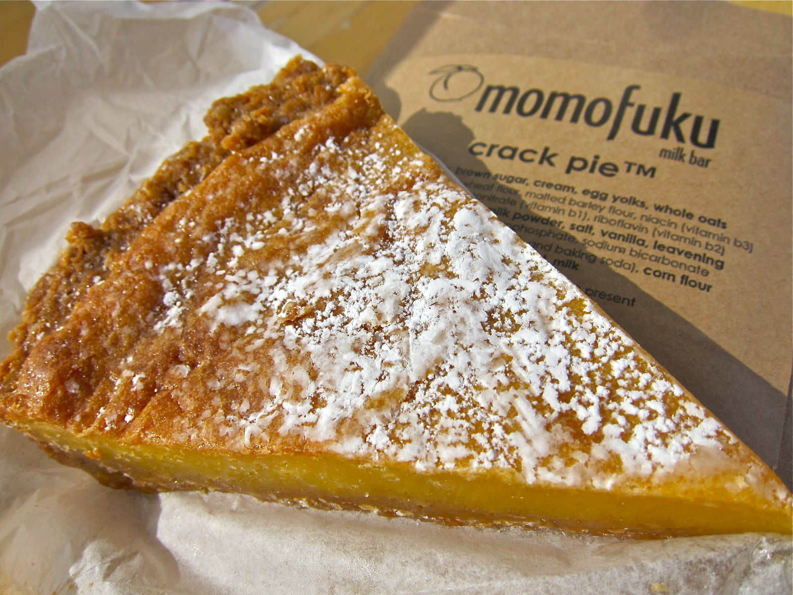 I made the momofuku milk bar crack pie this weekend. It ...