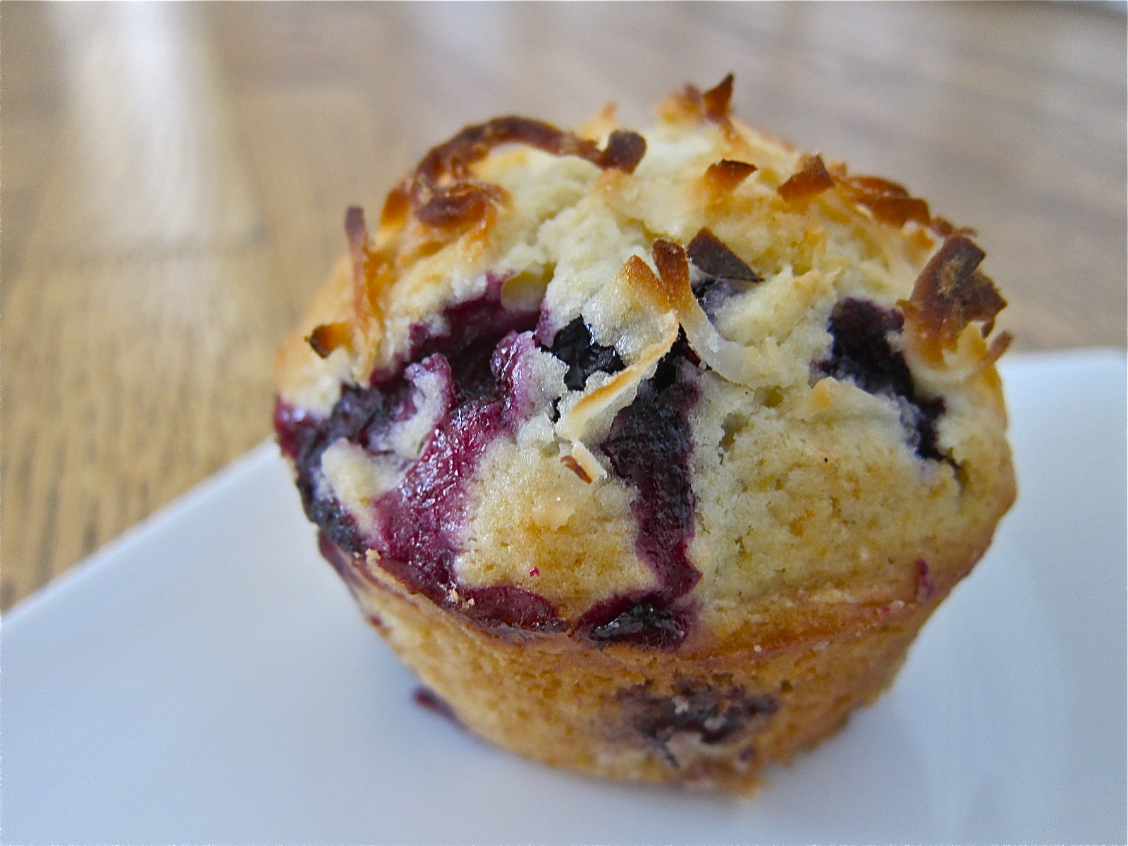 Muffin Mondays | Blueberry Coconut Muffins | Let Me Eat Cake