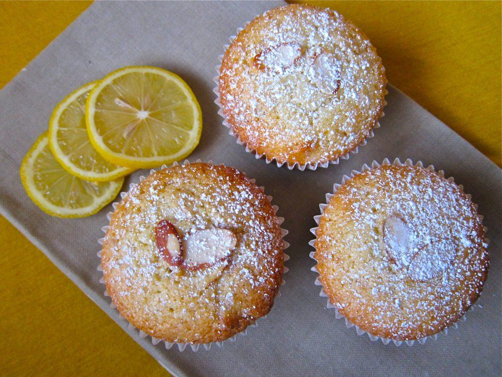 Muffin Mondays | Lemon Almond Olive Oil Muffins | Let Me Eat Cake