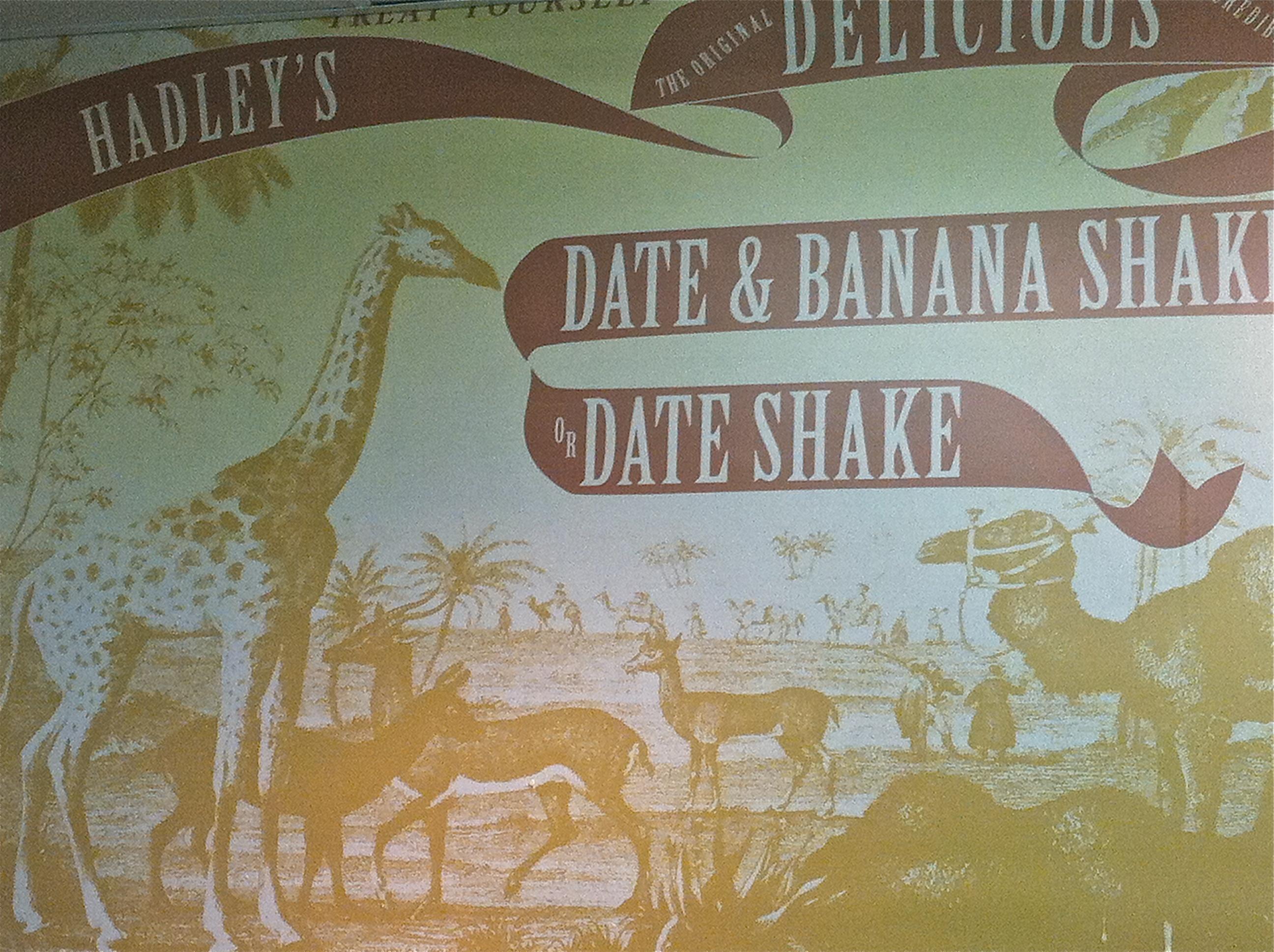 Hadley's date shake in Brisbane
