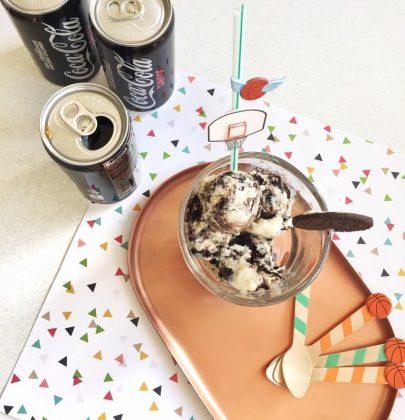 Slam Dunk Ice Cream Floats with Coke Zero & OREO  NCAA Tournament Party Ideas