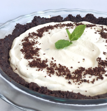 Otis Spunkmeyer Double Chocolate Cookie Grasshopper Pie