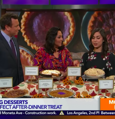 Thanksgiving Pie KTLA Morning NEws