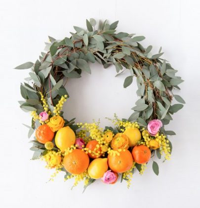 DIY Citrus Spring Wreath with Sunkist