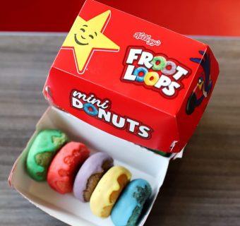 Kellogg's Froot Loop Mini Donuts at Carl's Jr.
